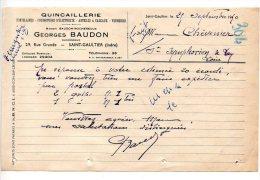 Quincaillerie Georges Baudon, Rue Grande, Saint Gaultier (Indre) - 1950 - France
