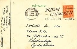 ESPERANTO - GREAT BRITAIN - Carte Illustrée Etoile Verte ROCHESTER 1946 Vers PRAHA  -- C1/787 - Esperanto