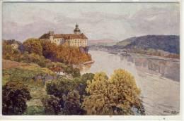 "Schloß PERSENBEUG, Künstler Karte Fritz Lach: ""Nibelungenweg"" - Autriche"
