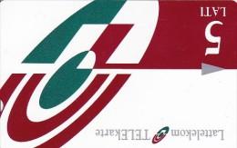 Latvia, M-007, 5 Ls, Logo,  2 Scans. - Latvia