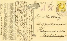 ESPERANTO - BELGIUM - Carte-Vue TP Houyoux Cachet 20 A Congrès ANTWERPEN 1928 Vers HANNOVER  -- C1/793 - Esperanto