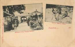 ZANZIBAR - ENTRANCE OF THE VICTORIA GARDENS - NATIVES WASHING CLOTHES - Tanzanie