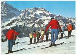 Leysin , Leçon De Ski Au Club Mediterranée, Cpsm, Voyagée, 2 Scans , Ed Trimboli Pescara, Italie - VD Vaud
