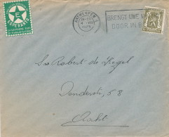 ESPERANTO - BELGIUM - Carte-Vue TP Sceau Etat ANTWERPEN + Vignette 25 è Congrès LA LOUVIERE 1936  -- C1/795 - Esperanto