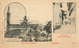 ZANZIBAR - CHRIST CHURCH CATHEDRAL - MAIN ROAD FACING TO AFRICA HOTEL - Tanzanie
