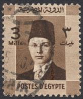 Egypt, 3 M. 1937, Sc # 208, Used - Egypt