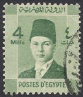 Egypt, 4 M. 1937, Sc # 209, Used - Egypt