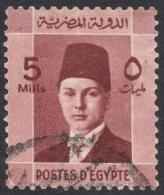 Egypt, 5 M. 1937, Sc # 210, Used - Egypt