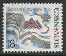 """Slowakei Slovakia 1996 Mi 254 ** Pages – 150th Ann. Of """"Slovenske Pohl'ady"""" / Literaturzeitschrift - Zeitschriftenseiten - Andere"""