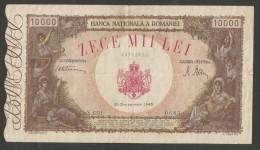 [NC] ROMANIA - BANCA NATIONALA A ROMANIEI - 10000 LEI (20 / 12 / 1945) - Romania