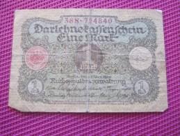 Note Bank  Banca Billet De Banque Bankrépublique Weimar Allemagne Deutschland 1 Mark - [ 3] 1918-1933 : République De Weimar