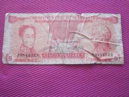 Note Bank  Banca Billet De Banque Bank  Banco Central De Venezuela 1989 - Venezuela
