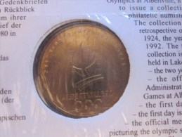 Monnaie De Paris Enveloppe Officielle Administrati Monnaies Médailles Au 1932-1980 Lake Placid Jeux Olympique Alberville - Monnaie De Paris