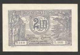 [NC] ROMANIA - BANCA NATIONALA A ROMANIEI - 2 LEI (1915) - Romania