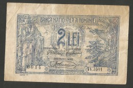 [NC] ROMANIA - BANCA NATIONALA A ROMANIEI - 2 LEI (1920) - Romania