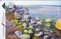 Latvia, D-014, 2 Ls, The Baltic Sea, 2 Scans. - Latvia