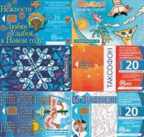 6 Télécartes RUSSIE Lot14 - Russie