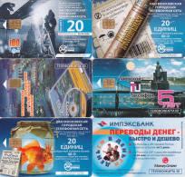 6 Télécartes RUSSIE Lot16 - Russie