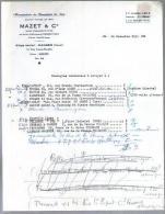 Courrier Commercial Manufacture De Bonneterie De Soie Mazet & Cie Ganges Hérault 24-11-1952 Pour Midi Néon Marseille - Textilos & Vestidos