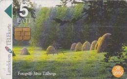Latvia, D-026, Summer Landscape - Serial Number 31LAT, 2 Scans. - Latvia
