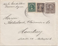 Lettre, 19..,  CHILI,  VALDIVIA - ALLEMAGNE, Via La Bordillera Bunos Ayres/4085 - Cile