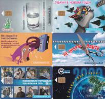 6 Télécartes RUSSIE Lot17 - Russie