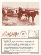 Postcard Fishermen Horse & Cart ST IVES Beach 1903 Fishing Boat Nostalgia Repro - Fishing