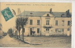 SAINT MARTIN D´AUXIGNY  La Mairie Et Route De Saint Palais - Autres Communes