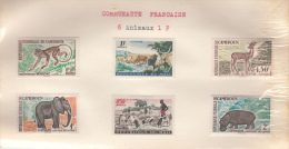 COMMUNAUTE FRANCAISE (CAMEROUN ET MALI)  / 6 TIMBRES ANIMAUX - Cameroun (1915-1959)