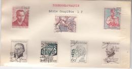 TCHECOSLOVAQUIE / SERIE DE 6 TIMBRES OBLITERES - Tchécoslovaquie