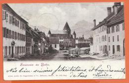 FEL561, Souvenir De Bulle, Précurseur, Circulée 1901 - FR Fribourg