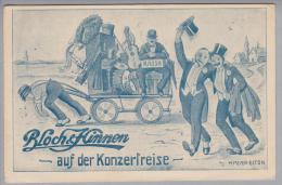 """Motiv Musik Bloch&Hinnen Ungebraucht """"auf Der Konzertreise"""" - Cartes Postales"""