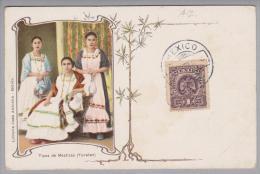 Mexico Ca. 1910 Litho Tipos De Mestizas (Yucatan) Juan Ausucua - Mexique