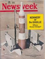 NEWSWEEK Fev. 1963 / KENNEDY OR DE GAULLE - WHOSE GRAND DESIGN ??? - Books, Magazines, Comics