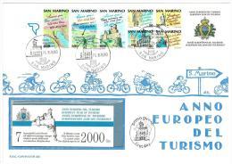 SAN MARINO - ANNO 1990 - ANNO EUROPEO DEL TURISMO - LIBRETTO FDC CAPITOLIUM - FDC