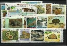 REPTILES Lot De 50 Timbres Tous Differents. Satisfaction Assurée - Reptiles & Batraciens