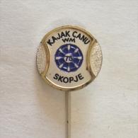 Badge / Pin (Rowing Kayak Canoe) - Yugoslavia Skopje World Championship 1975 - Canoeing, Kayak