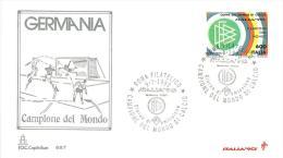 FDC - CAPITOLIUM  - GERMANIA CAMPIONE DEL MONDO - CAMPIONATO MONDIALE DI CALCIO ITALIA ´90  - ANNO 1990 - 1990 – Italië