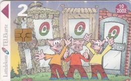Latvia, D-065, Cartoon, Little Pigs, 2 Scans. - Latvia