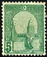 TUNISIA, FRENCH PROTECTORATE, MOSCHEA DI KAIROUAN, 1906, FRANCOBOLLO NUOVO (MLH*), Mi 32, Scott 32, YT 31 - Tunisie (1888-1955)