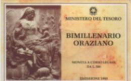 1993 - Italia 500 Lire Orazio - Mint Sets & Proof Sets