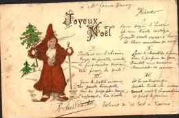 Père Noël - Joyeux Noël - Relief (1904) - Santa Claus