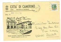 CAMERINO CAP. 62032 - PROV. MACERATA - MARCHE -  ANNO 1980  LS  TEMATICA COMUNI D´ITALIA  - POSTAL HISTORY - Marcophilie - EMA (Empreintes Machines)