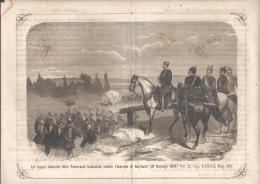 FRANCIA E PRUSSIA ,ALBUM DELLA GUERRA DEL 1870 - TRUPPE TEDESCHE MUOVONO  CONTRO L'ESERCITO DI GARIBALDI, - Prints & Engravings