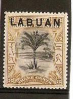 LABUAN 1897 - 1901  3c SG 91b MOUNTED MINT Cat £9 - Bornéo Du Nord (...-1963)