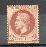 FRANCE   2 C   Année 1862   Y&T: 26    Type Napoleon  III   (neuf Sans Gomme) - 1862 Napoleon III