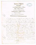 RARE - DEMANDE De BREVET Par Le CHIMISTE EMILE BARSE De RIOM (PUY DE DOME) Résidant à BATIGNOLLES MONCEAU - AUTOGRAPHE - Autographs