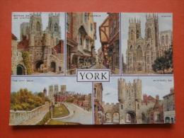 29035 PC: YORKSHIRE:  York Multi View Postcard. (Postmark 1994). - York