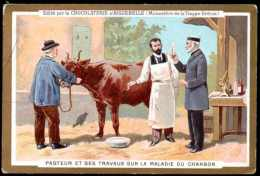 Chromo Chocolat D´Aiguebelle : Thème Médecine, Pasteur : Pasteur Et Ses Travaux Sur La Maladie Du Charbon. - Aiguebelle