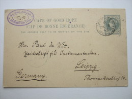 1893,  Postal Stationary To Germany , Long Message On Back - Cape Of Good Hope (1853-1904)
